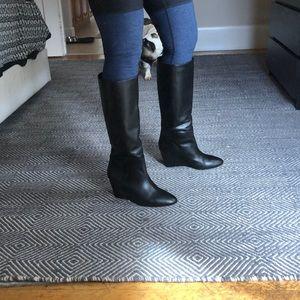 Loeffler Randall wedge boots size 9.5